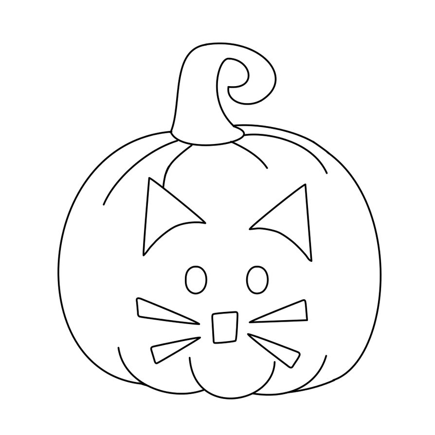 894x894 Pumpkin Cat Jack O Lantern Digistamp By Janettebernard