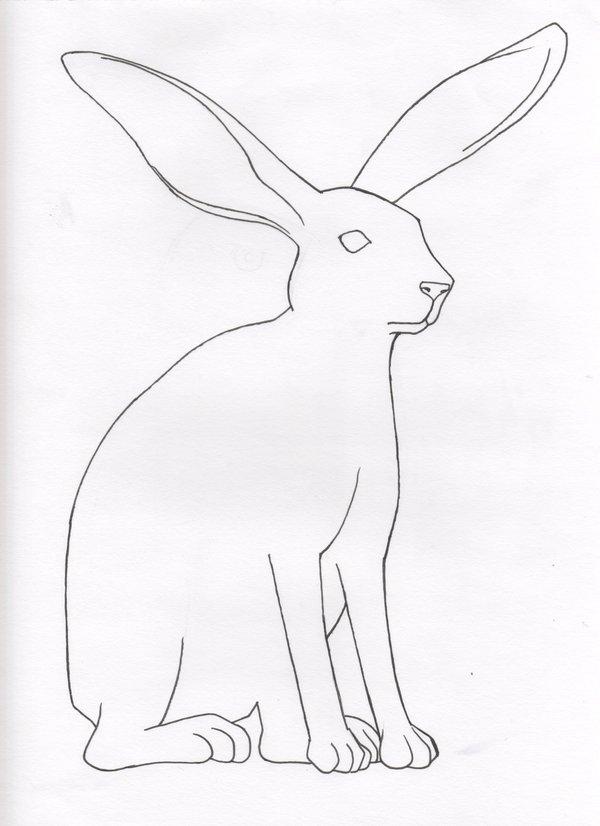 600x826 Coloring Book 01 Jack Rabbit By Kouriookami