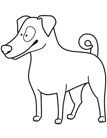 371x480 Funny Jack Russell Terrier Coloring Page Free Printable Coloring