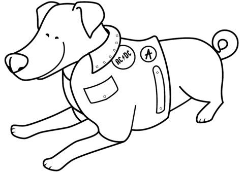 480x339 Funny Jack Russell Terrier In Acdc Jacket Coloring Page Free