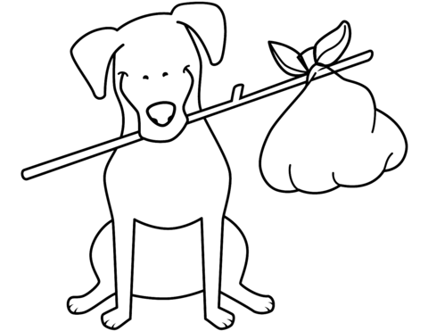 480x371 Funny Jack Russell Terrier With Bundle Coloring Page Free