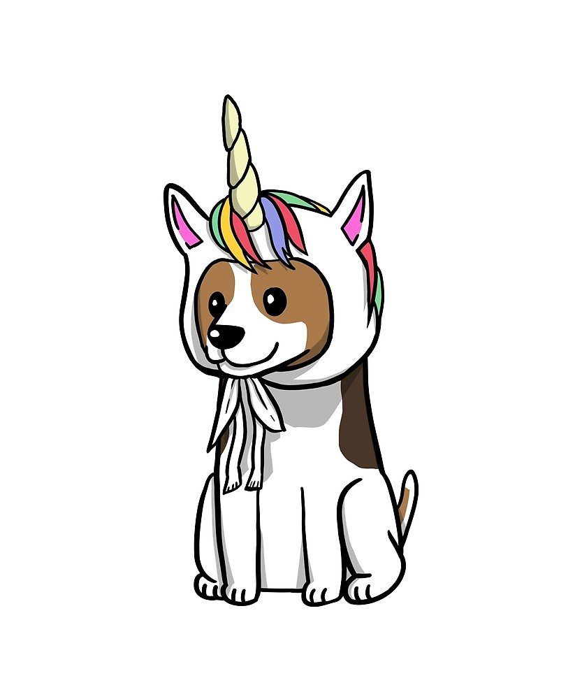 833x1000 Funny Unicorn Jack Russell Terrier By Ilovepaws Redbubble