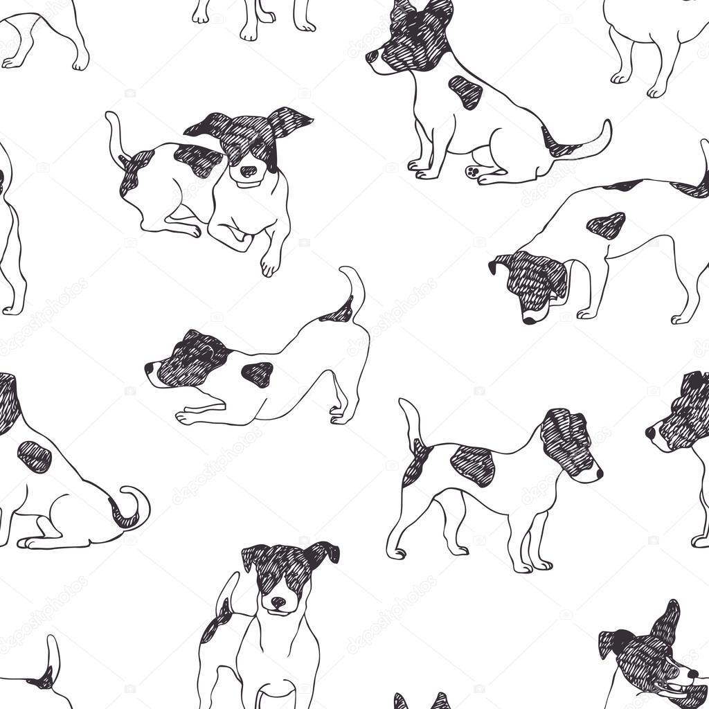 1024x1024 Jack Russell Terrier Pattern Stock Vector Nenilkime