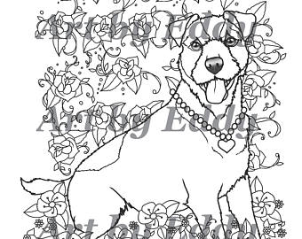 340x270 Art Of Jack Russell Terrier Coloring Book Volume No. 1