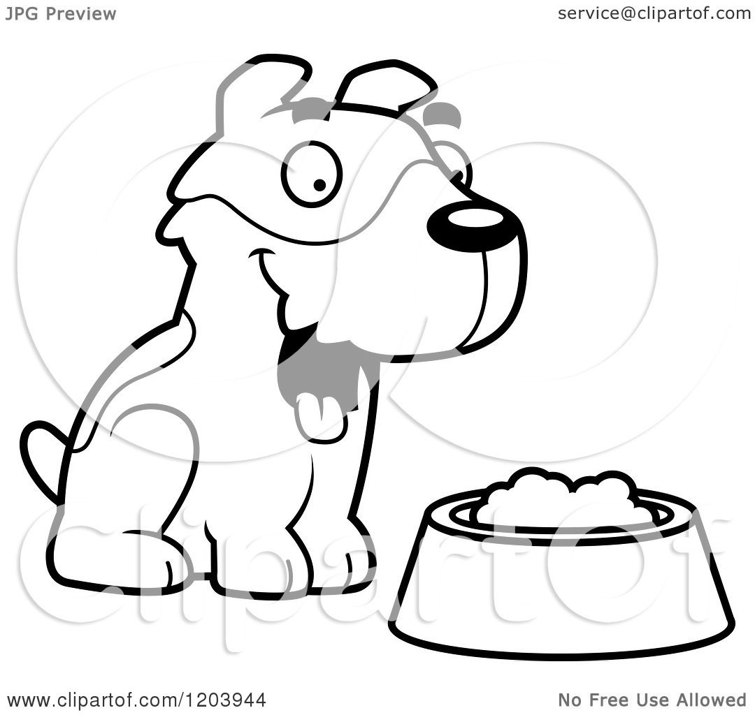 1080x1024 Cartoon Of A Black And White Cute Jack Russell Terrier Puppy
