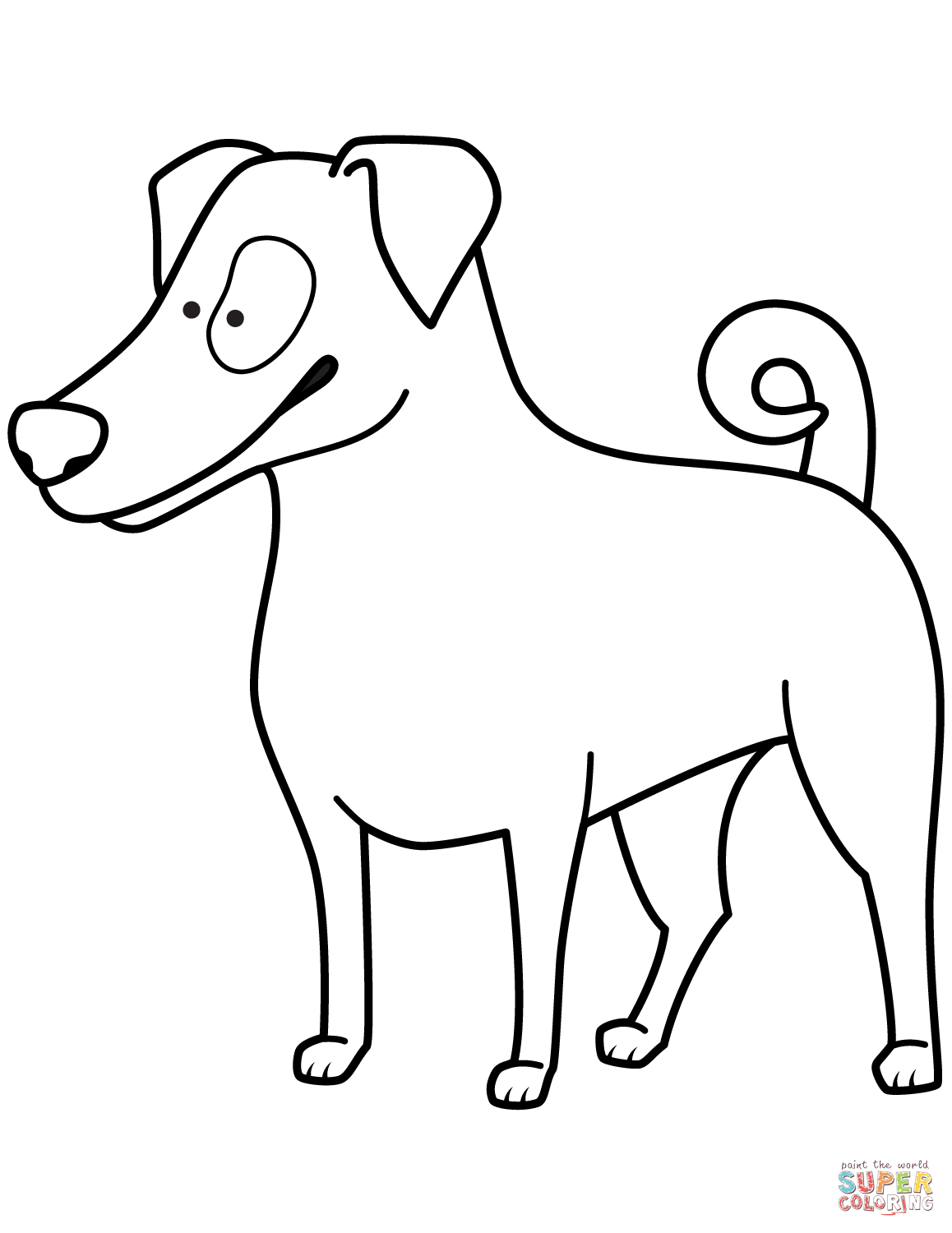 1158x1500 Funny Jack Russell Terrier Coloring Page Free Printable Coloring