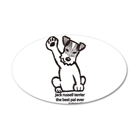 460x460 Jack Russell Terrier Dad Wall Art Cafepress