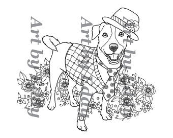340x270 Art Of Jack Russell Terrier Single Coloring Page Art Of Jack