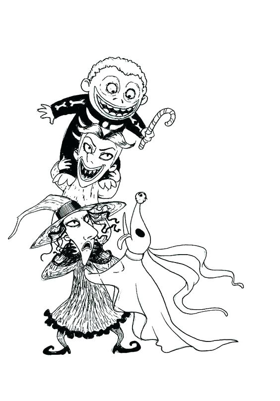 564x808 Jack The Pumpkin King Coloring Pages Jack Pumpkin King Drawing