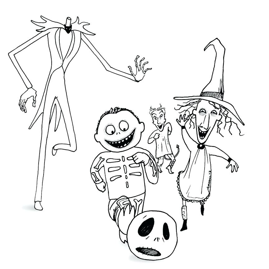 864x863 The Nightmare Before Coloring Pages Just Jack Skellington