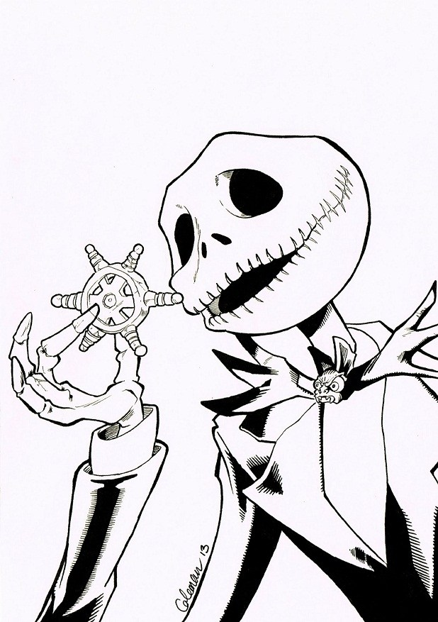 618x877 Jack Skeleton Coloring Pages Coloring Page For Kids
