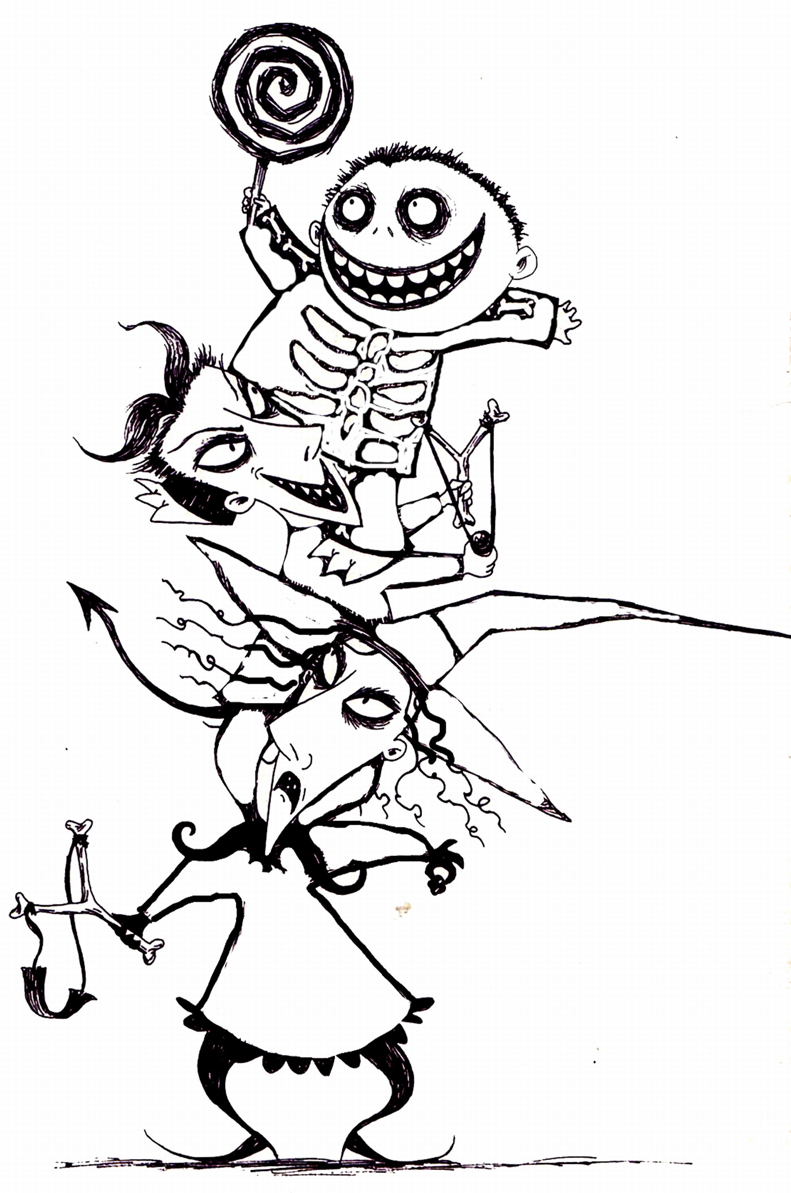 2558x3856 Jack Skellington Coloring Pages Freecolorngpages.co