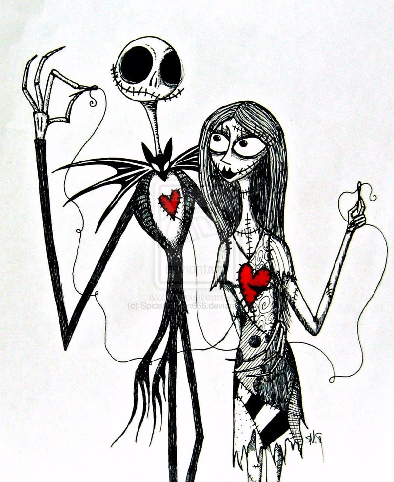 808x988 Jack And Sally By Thespyderqueen Tattoos Sally