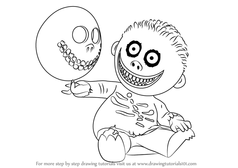 800x566 Learn How To Draw Barrel From The Nightmare Before Christmas (The