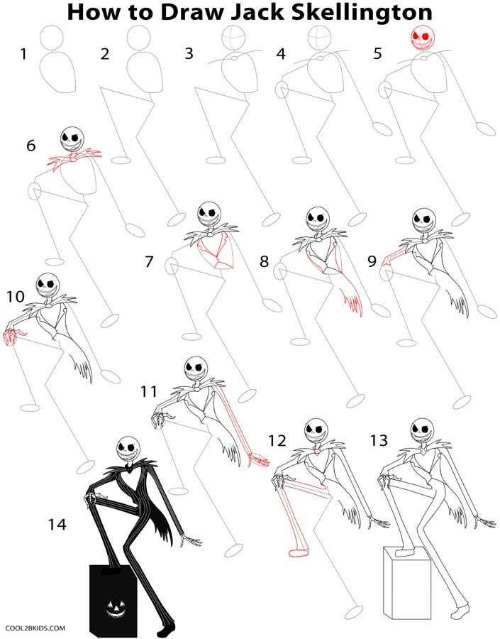 705x900 How To Draw Jack Skellington Step By Step Drawing Tutorial