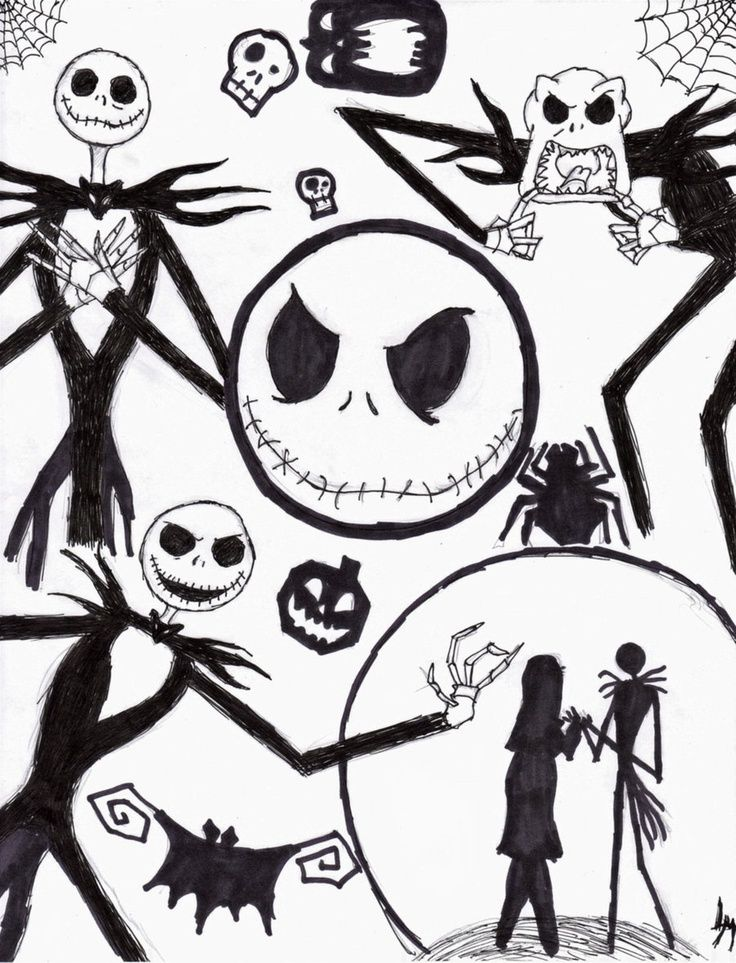 736x963 Jack And Sally Coloring Pages