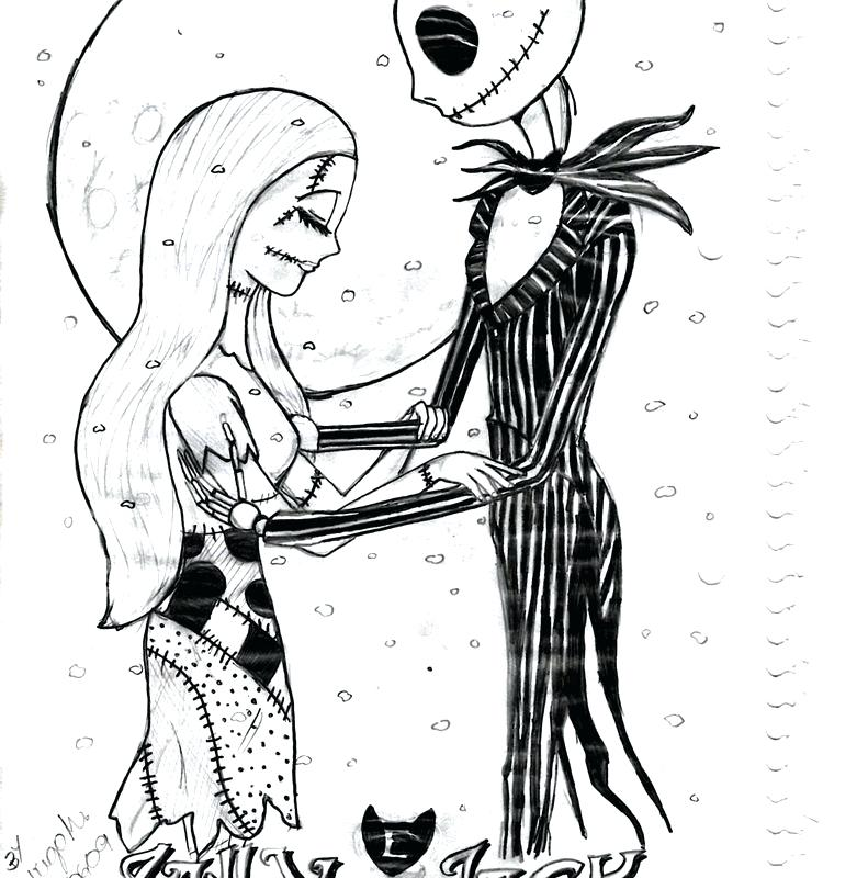781x800 Jack And Sally Coloring Pages Nightmare Before Best Images On Free