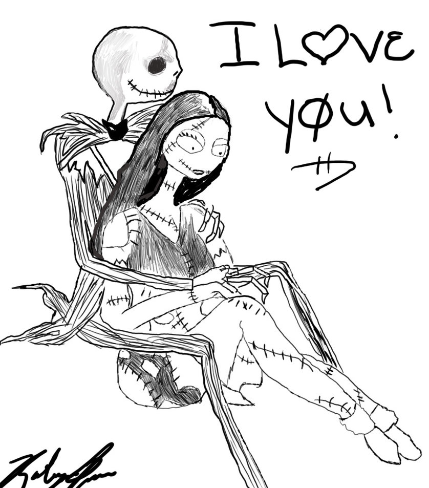 Jack Skellington And Sally Drawing at GetDrawings.com | Free for ...