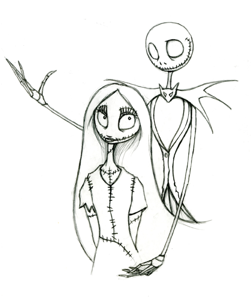 511x611 Nightmare Before Christmas Coloring Pages
