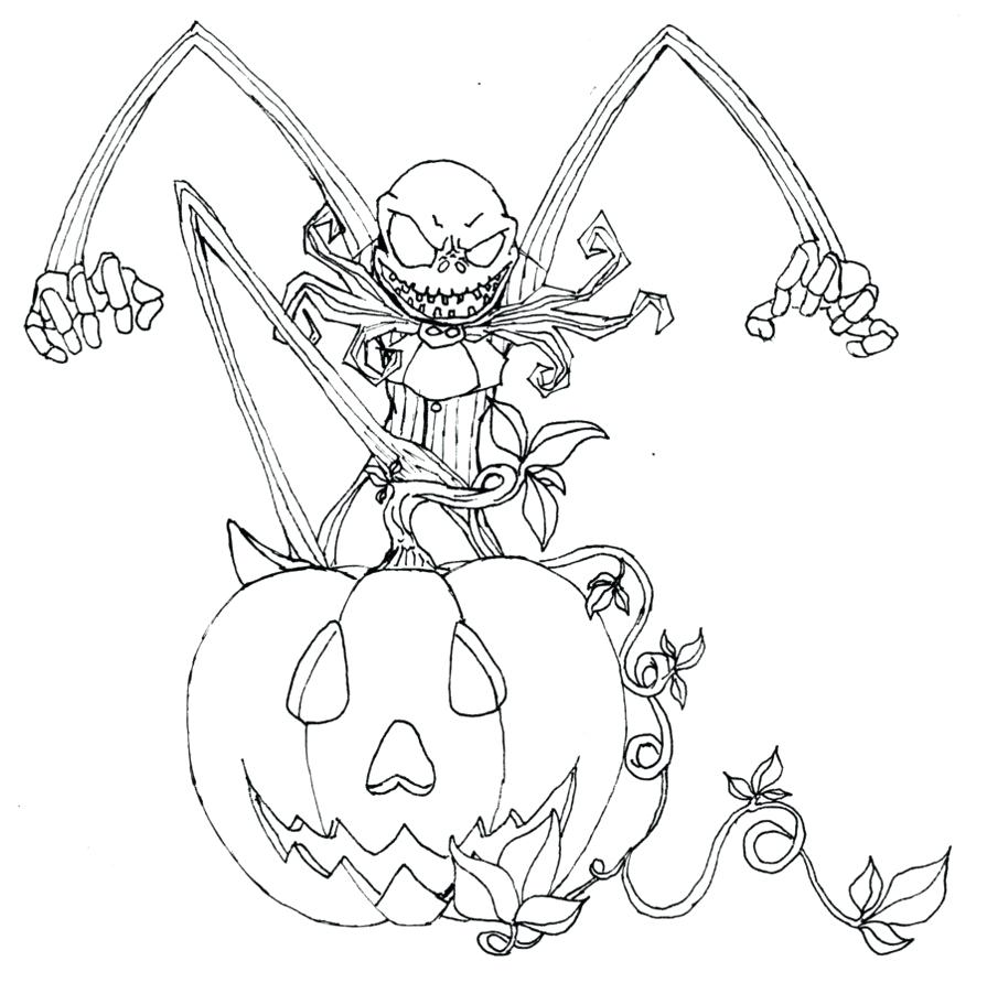895x892 Coloring Pages Sally Jack Skellington And New