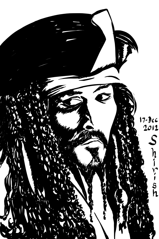 2000x3000 A Very Quick Sketch Of Capt Jack Sparrow Hues And Tones