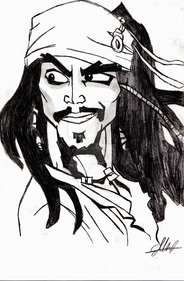 600x915 Captain Jack Sparrow Anime By Pinkyloyloulp
