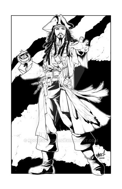 400x618 Captain Jack Sparrow By Roguesamurai