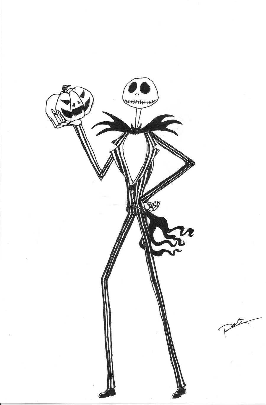 900x1369 Jack Skellington Holding A Pumpkin By Kyrens64