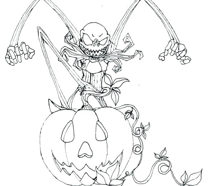 678x600 Jack The Pumpkin King Coloring Pages View Larger Jack The Pumpkin