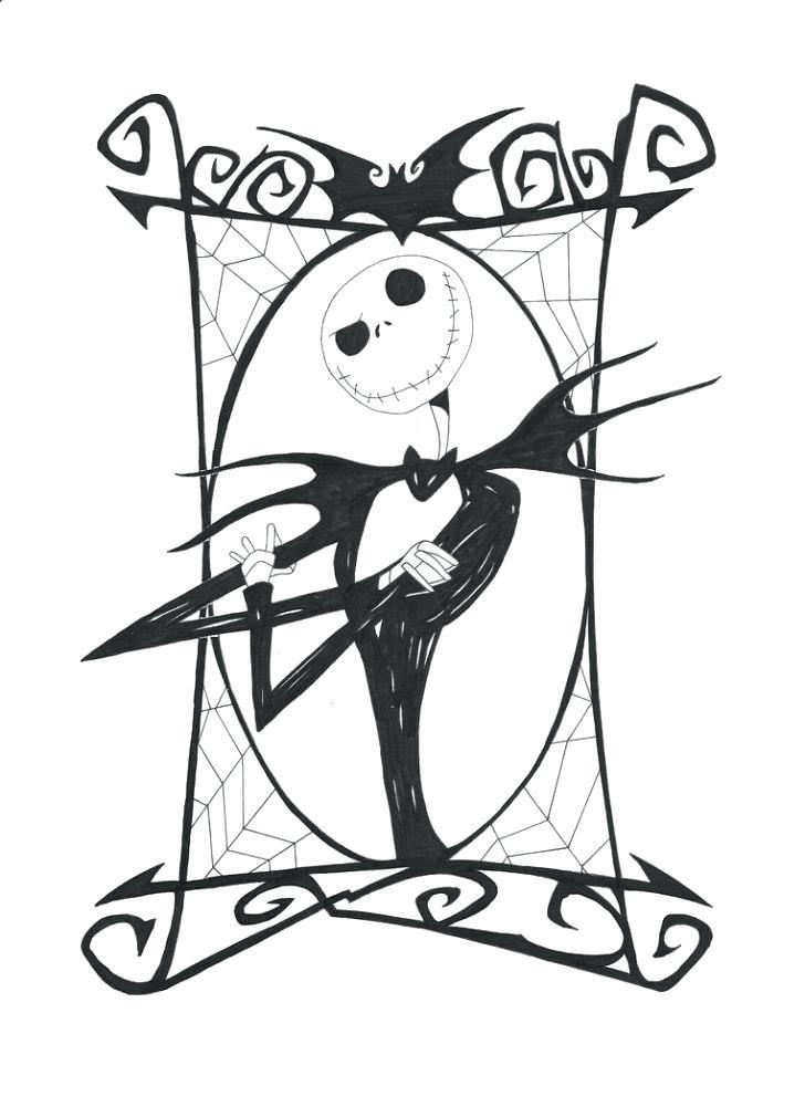 728x1001 Jack Skeleton Coloring Pages Skelli On Jack The Pumpkin King