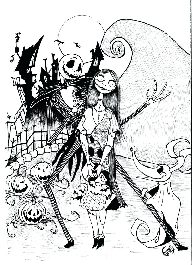 736x1014 Jack Skellington Coloring Pages Holiday Coloring Pages Jack