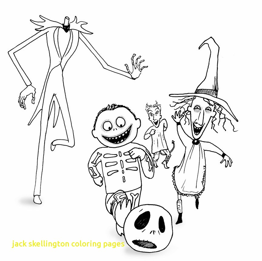 864x863 Jack Skellington Coloring Pages With Nightmare Before Christmas