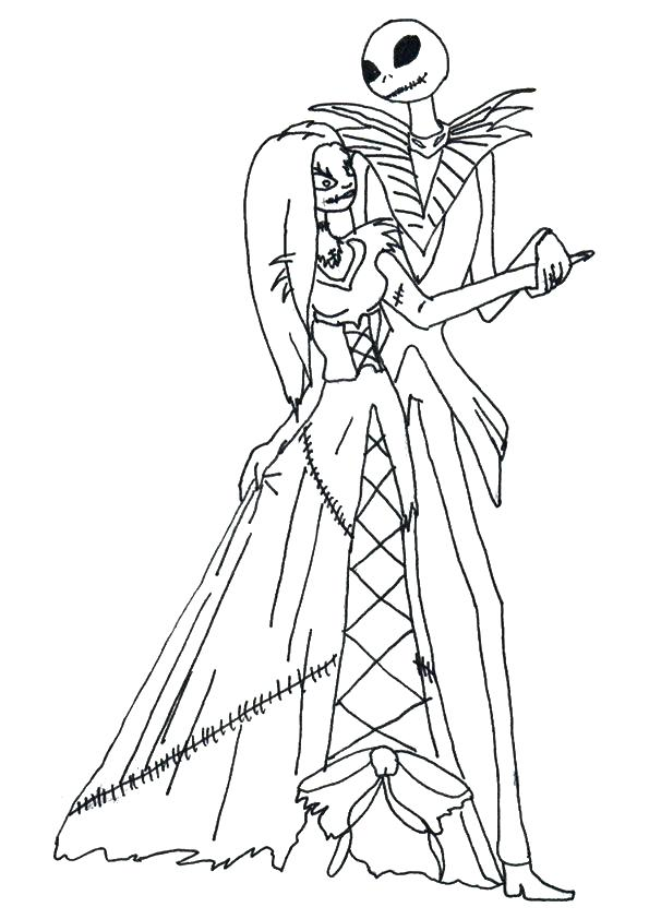 595x842 Fresh Jack Skellington Coloring Pages For Jack Coloring Pages Top