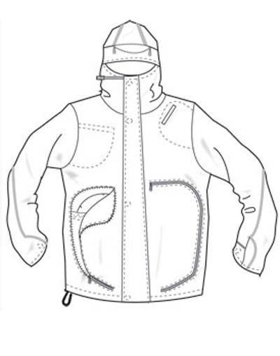 400x509 Image Result For Parka Jacket Men Flat Sketch Flat Sketches