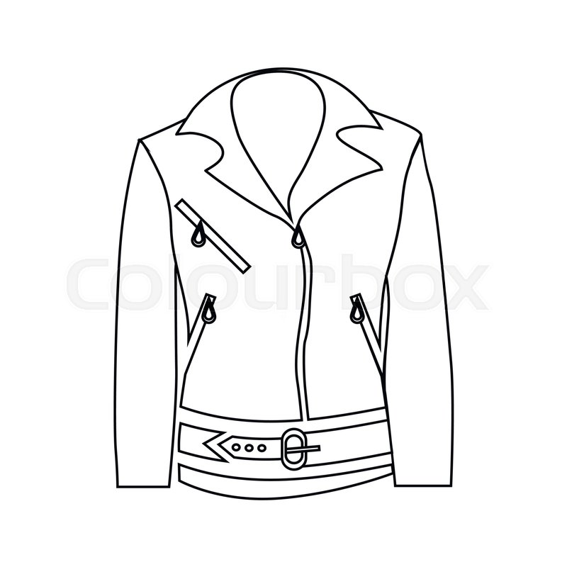 800x800 Women Jacket Icon In Outline Style Isolated On White Background