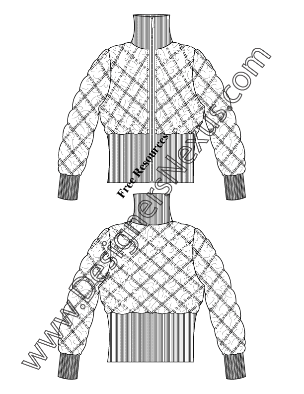 coat technical drawing