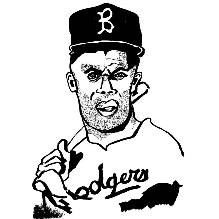 736x736 Jackie Robinson By Oyl Miller Japanese Ink And Brush On Paper 21cm