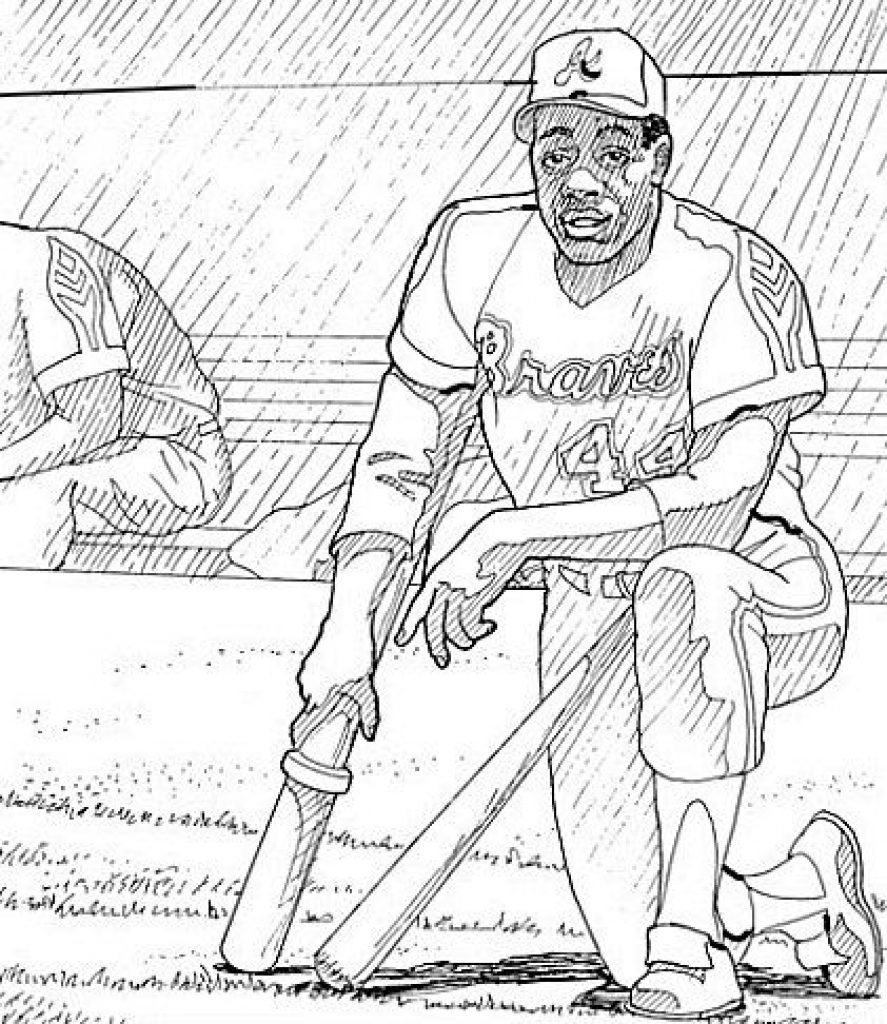 887x1024 Jackie Robinson Coloring Page