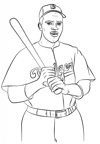 333x480 Jackie Robinson Coloring Page Free Printable Coloring Pages