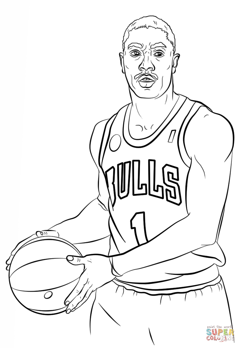 824x1186 Derrick Rose Coloring Page Free Printable Coloring Pages Jackie
