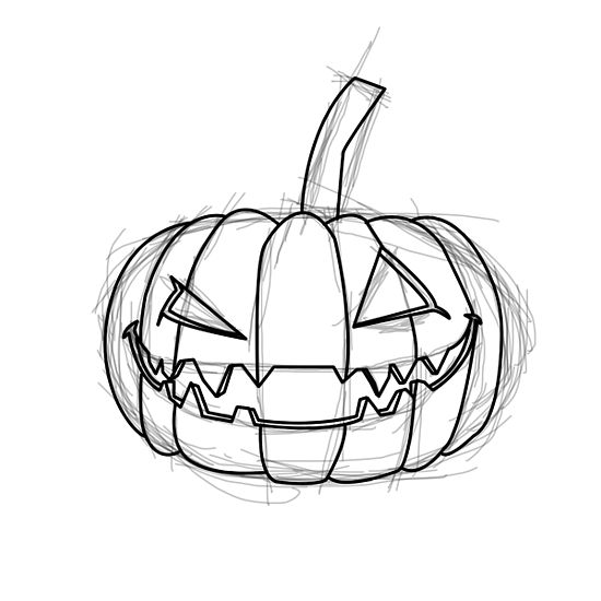 550x550 How To Draw An Evil Pumpkin 8 Steps (With Pictures) Diy