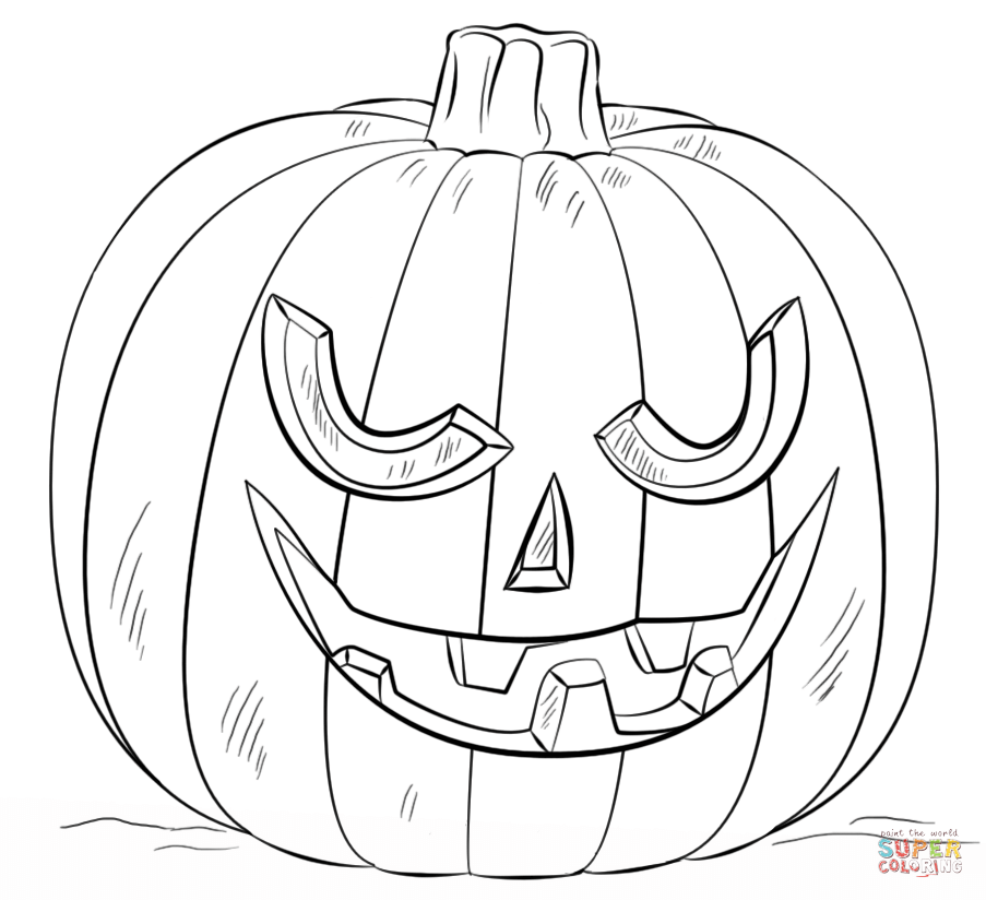903x824 Jack O Lantern Coloring Pages