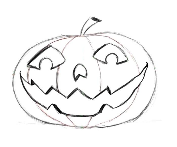700x583 Pumpkin Face Drawing Ideas