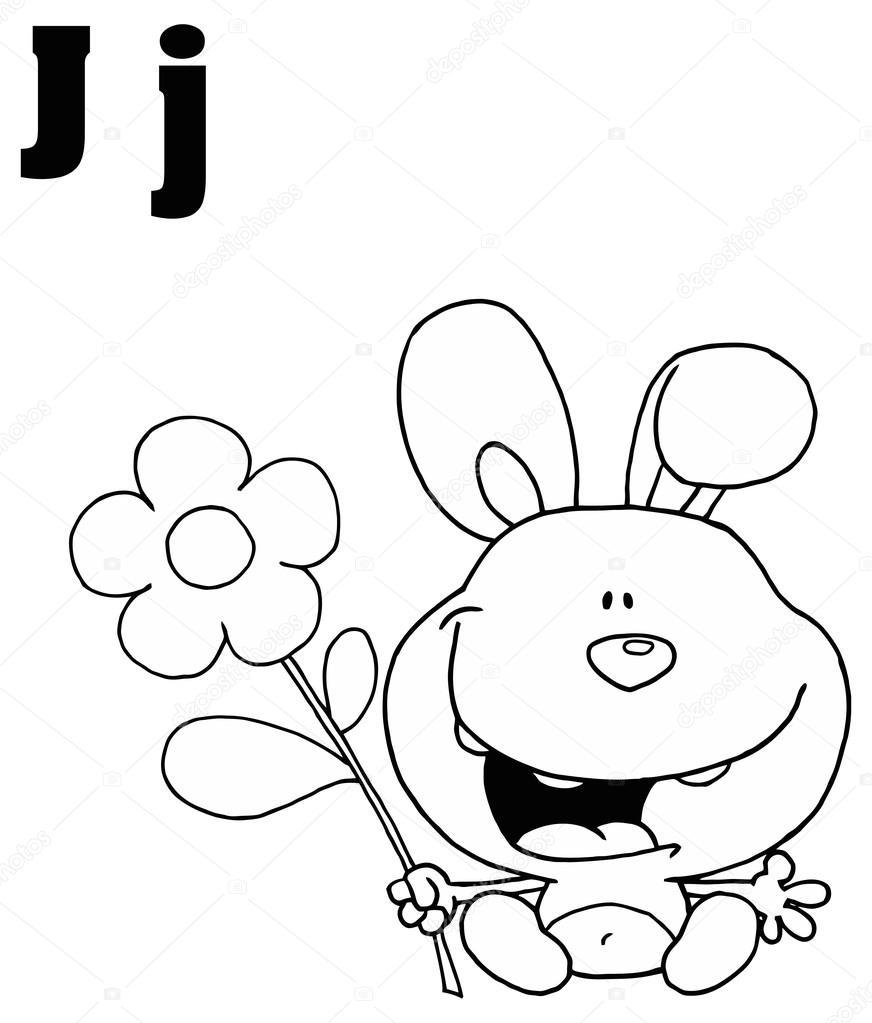 872x1023 Alphabet Letter J With Jackrabbit Stock Vector Hittoon