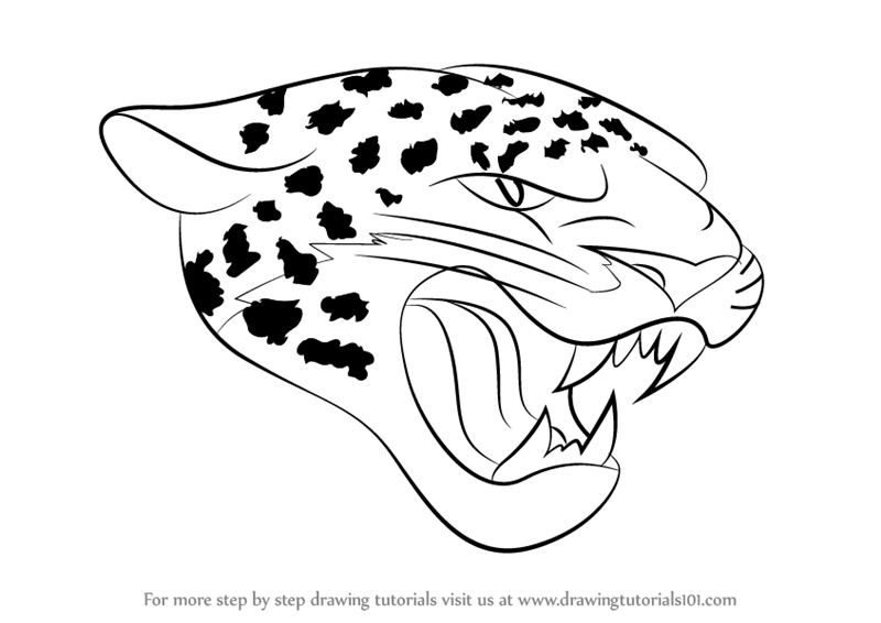 800x566 Learn How To Draw Jacksonville Jaguars Logo (Nfl) Step By Step