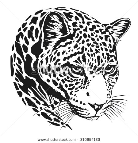 450x465 Jaguar Head Jaguares Image Vector, Realistic
