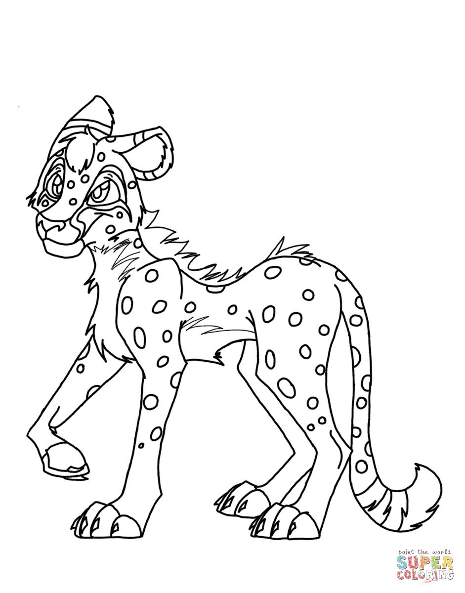 941x1200 Cheetah Cartoon Drawing Cartoon Cheetah Coloring Page Free