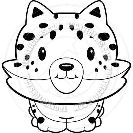 460x460 Baby Jaguar (Black And White Line Art) By Cory Thoman Toon