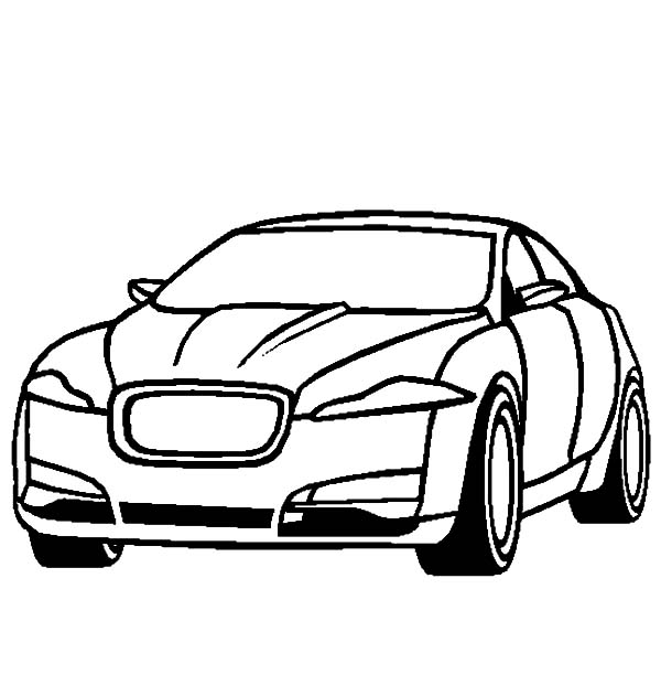 600x612 Jaguar Xf Cars Cars Coloring Pages Bulk Color