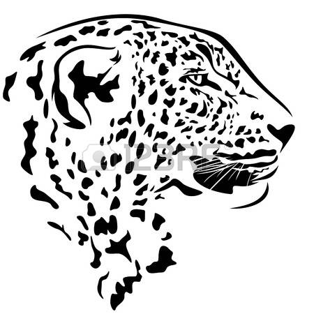 450x450 Jaguar Clipart Outline